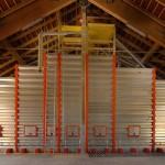 installation avec silos carrés