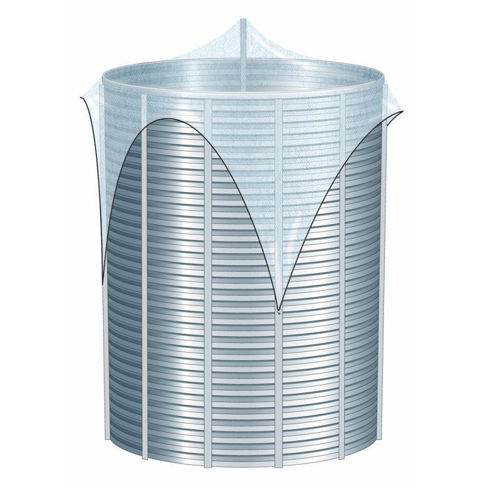 Filet de protection pour silos